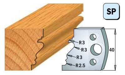 Профильные ножи (пара) 690.122 40x4 SP, фото 2