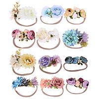 Повязка с цветами на голову для девочки.