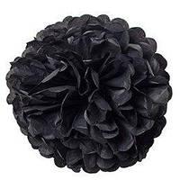 Помпон бумажный (черный) 35 см 270117-013