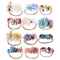 Повязка с цветами на голову для девочки., фото 1