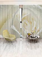 Фотошторы WallDeco Роса на белой розе (10415_4_ 2)