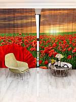Фотошторы цветы (1126_4_2)