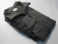 Лёгкая мужская кофта на молнии Светлый графит размер S 62-160-GL