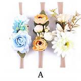 Повязка с цветами на голову для девочки., фото 3
