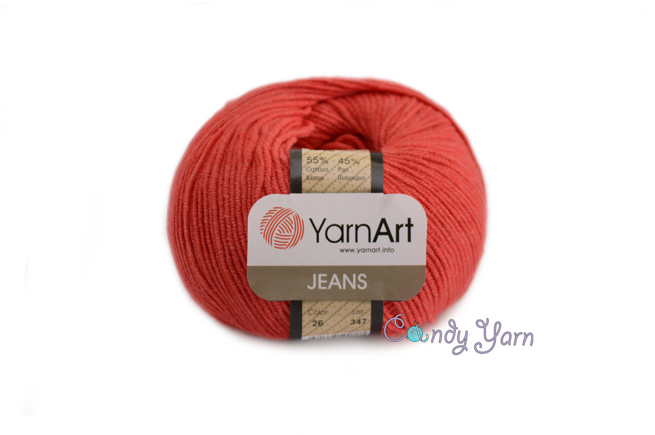 YarnArt_Jeans_Красный №26