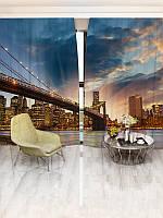 Фотошторы WallDeco Закат над городом (14142_4_ 2)