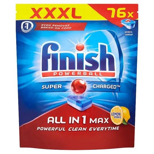 Миючий засіб для посудомийних машин Finish All in 1 Max Lemon 76 шт