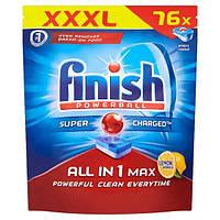 Миючий засіб для посудомийних машин Finish All in 1 Max Lemon 76 шт, фото 1