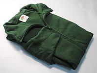 Лёгкая мужская кофта на молнии Тёмно-зелёная размер XXL 62-160-38