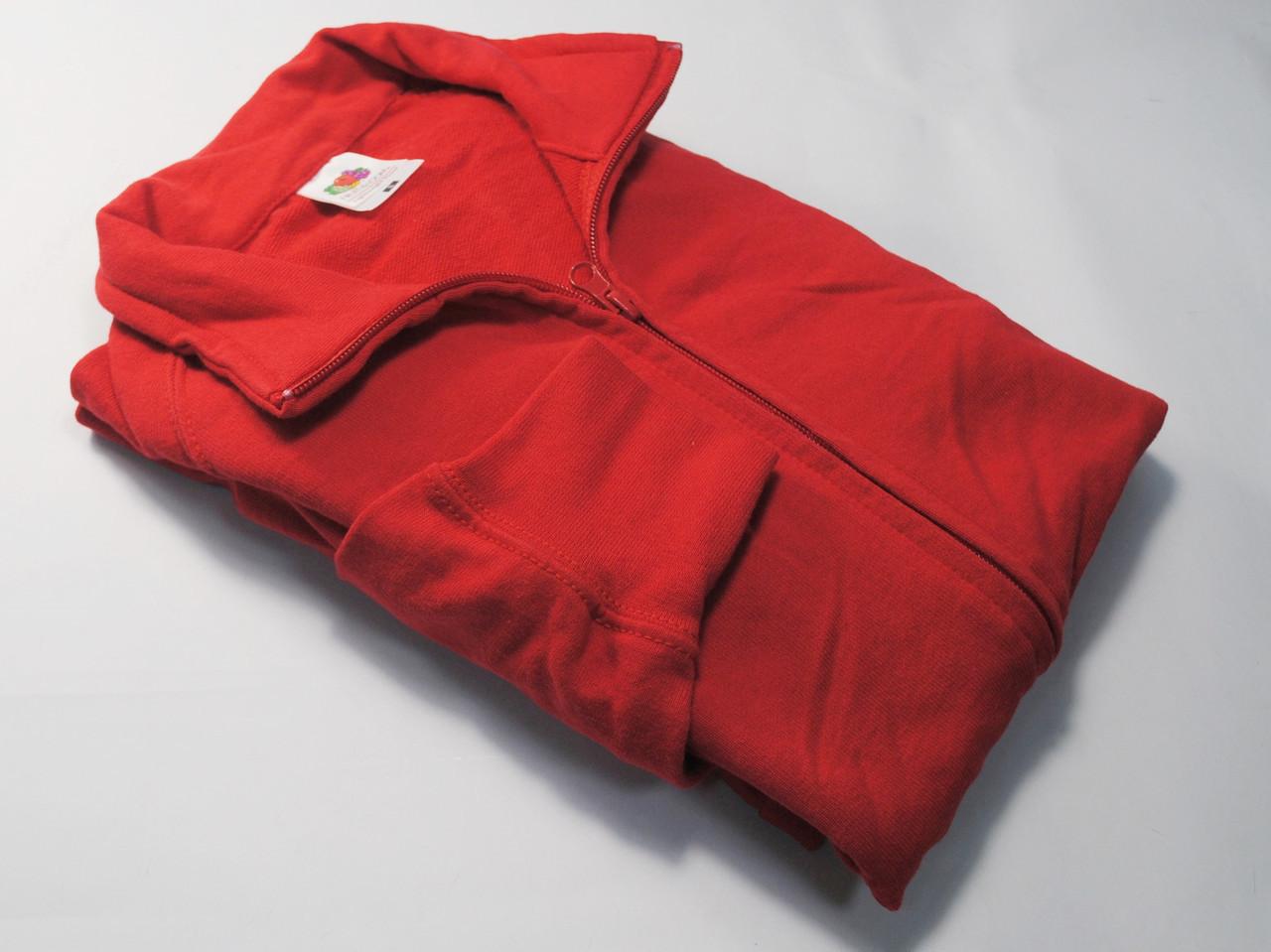 Лёгкая мужская кофта на молнии Красная размер XL 62-160-40