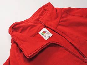Лёгкая мужская кофта на молнии Красная размер XL 62-160-40, фото 3