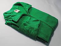 Лёгкая мужская кофта на молнии Ярко-зелёная размер M 62-160-47