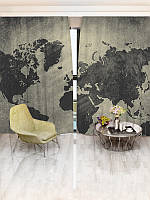 Фотошторы WallDeco Карта (15456_4_ 2)