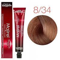 Крем-краска для волос L'Oreal Professionnel Majirel 8.34 (Светлый блондин, золотистый медный) - 50 мл