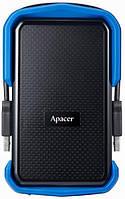"""Жесткий диск APACER 2.5"""" USB 3.1 AC631 2TB Black/Blue (AP2TBAC631U-1)"""