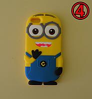 3D чехол бампер Миньйон силиконовый для айфона iPhone 5/5S/SE/6/6s6+/7/8/X детский
