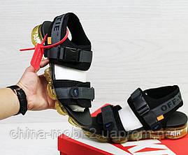 Мужские  сандалии  Nike, темно-серые (Топ реплика ААА+) 5539, фото 3