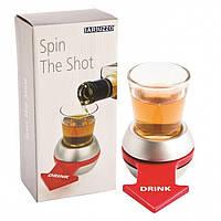 Алкогольная настольная игра рюмка-рулетка со стрелкой, Алкогольна настільна гра чарка-рулетка зі стрілкою, Прикольные подарки
