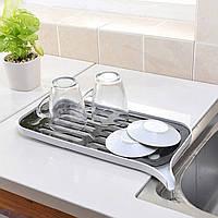 Сушилка посудная со сливным носиком (белый), Сушарка посудна зі зливним носиком (білий), Кухонные принадлежности
