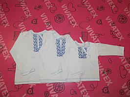 Детская вышиванка для мальчика с длинным рукавом интерлок