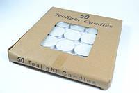 Свечи чайные таблетка 50шт, Свічки чайні таблетка 50шт, Подарочные свечи