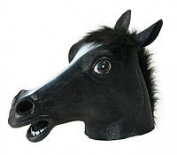 Маска голова лошади (коня) - черная, Маска голова коня (коня) - чорна, Карнавальные маски