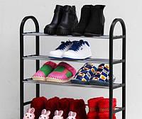 Полка для Обуви 4 яруса, Полиця для Взуття 4 ярусу, Органайзеры для вещей и обуви