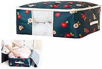 Органайзер для одеял Синие Цветы, Органайзер для ковдр Сині Квіти, Органайзеры для вещей и обуви