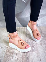 Женские замшевые босоножки на высокой подошве в стиле Zara, фото 1