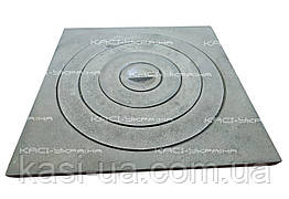 Плита чугунная печная однокомфорочная  под казан ПД-1К (410 х 410 мм.)