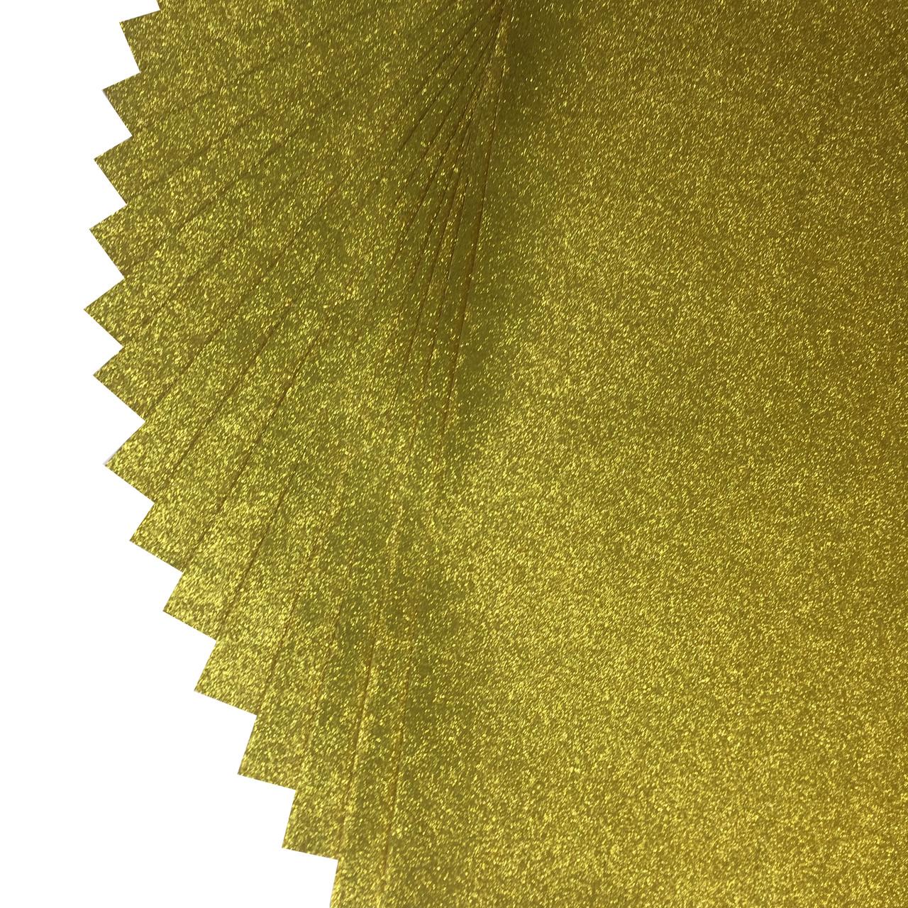 Дизайнерський картон з глітером 50 х 70 см золото