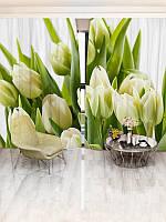 Фотошторы WallDeco Бежевые тюльпаны (20416_4_ 2)