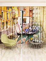 Фотоштора Walldeco Лодки на канале (2051_4_2)