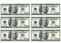 """Вафельная картинка деньги """"Доллары 6"""""""
