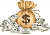 """Вафельная картинка деньги """"Мешок с долларами"""""""