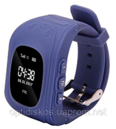 Детские смарт часы с GPS трекером, синие (+ прослушка, датчик снятия, сим карта)