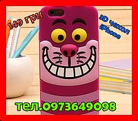 3D чехол бампер Зубастик силиконовый для айфона iPhone 5/5S/SE/6/6s6+/7/8/X детский