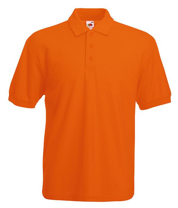 Мужское поло M Оранжевый
