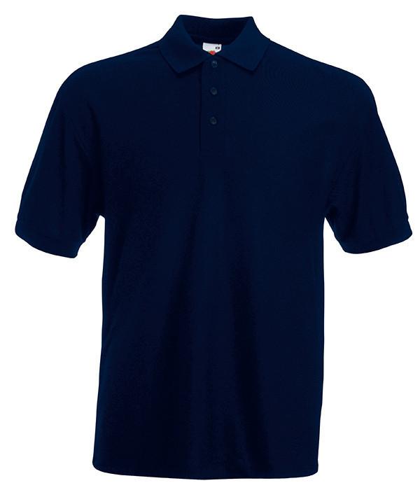 Мужская футболка поло 65/35 M Глубокий Темно-Синий