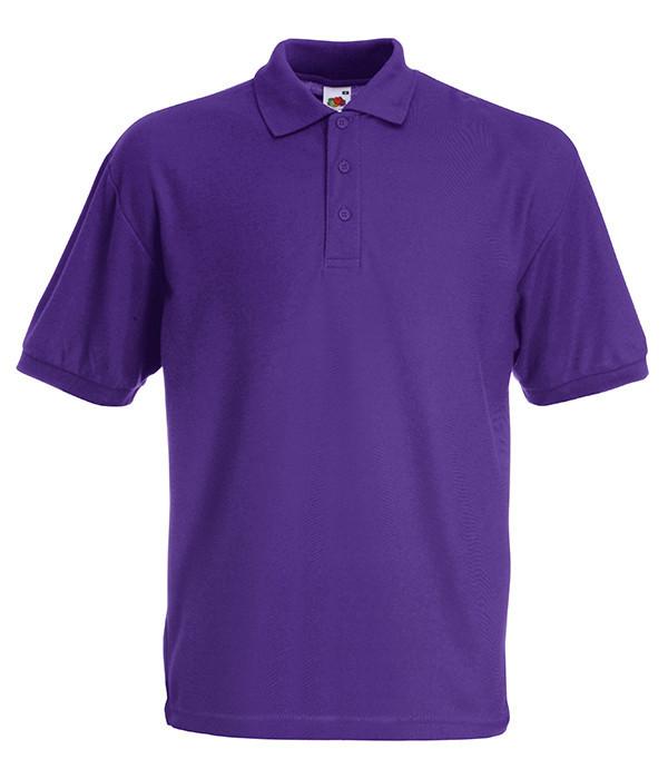 Мужское поло M Фиолетовый