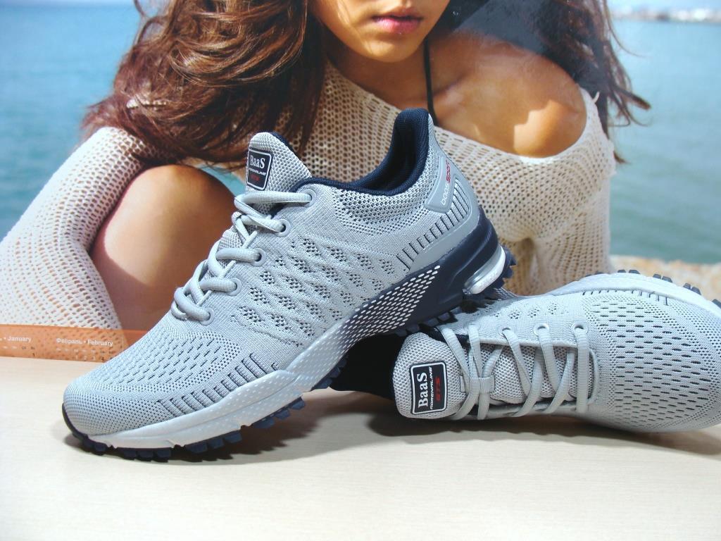 Мужские кроссовки BaaS Marathon светло-серые 44 р.