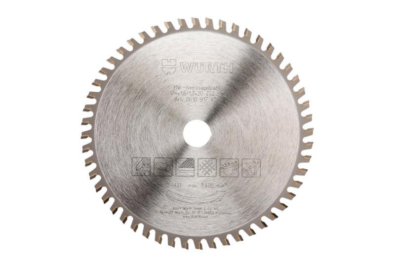 Пильный диск по нержавеющей, конструкционной стали, и других видов металлов Wurth