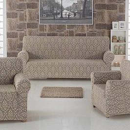 Турецкие фабричные чехлы на трехместный диван и кресла