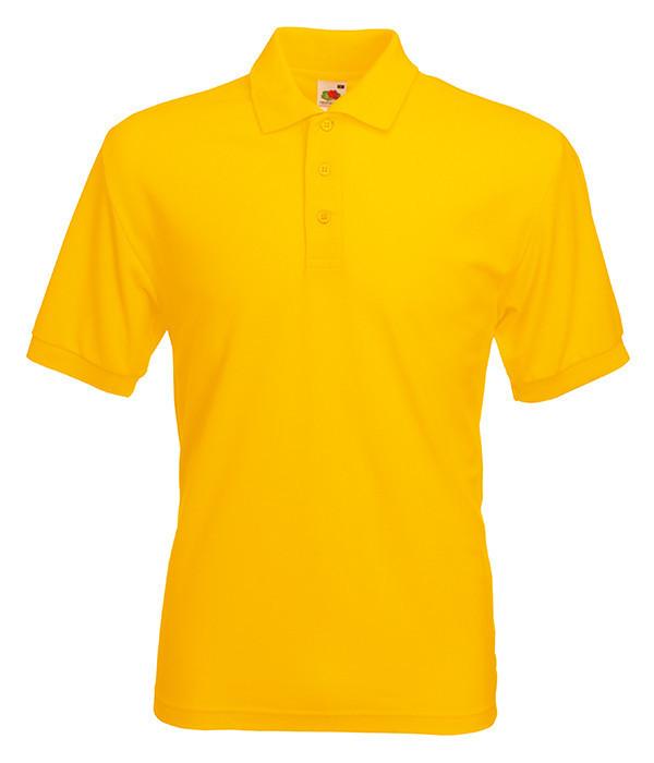 Мужское поло XL Солнечно Желтый
