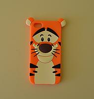 3D чехол бампер ТИГР силиконовый для айфона iPhone 5/5S/SE/6/6s6+/7/8/X детский