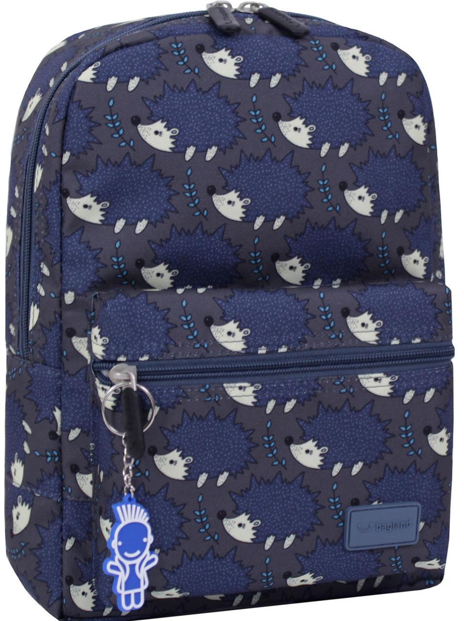 Рюкзак Bagland Молодіжний mini 00508664 (481) сірий з синім 8 л