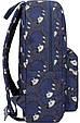 Рюкзак Bagland Молодіжний mini 00508664 (481) сірий з синім 8 л, фото 3