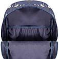 Рюкзак Bagland Молодіжний mini 00508664 (481) сірий з синім 8 л, фото 4