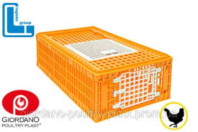 Ящик для перевозки птиц Mini Piedmont 770х570х290 мм двухдверный