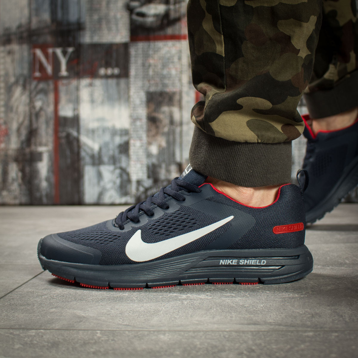 0c8b829e Кроссовки мужские Nike Air Zoom, темно-синие (16010) размеры в наличии
